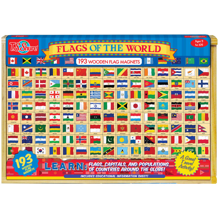 T.S. Shure Flags of the World Wooden Magnets by TS Shure