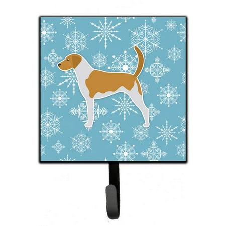 Winter Snowflake American Foxhound Leash or Key Holder BB3498SH4