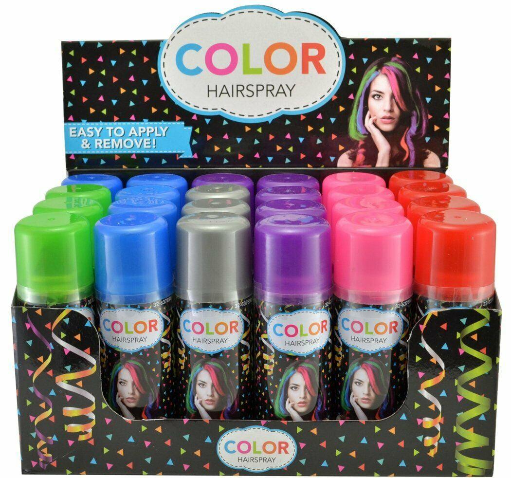 Temporary Hair Color Spray Case 12 Cans   12 Colors   Walmart.com