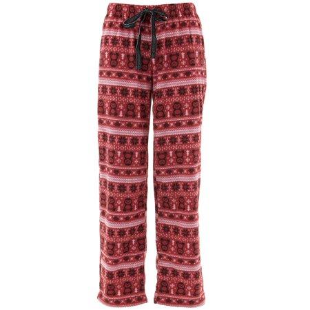 Fairy Pajamas (Rene Rofe Women's Red Penguin Fair Isle Fleece Pajama)