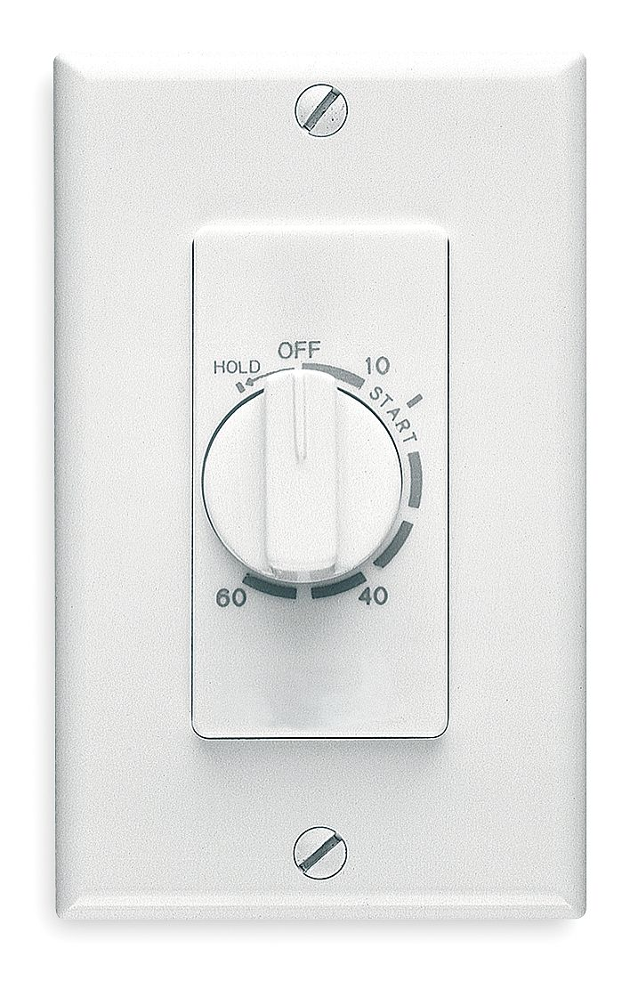 Broan 60 Minute Wall Timer, White, SPST 59W by Broan