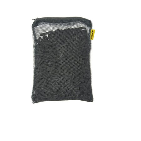 1 lb activated charcoal carbon pellets in free mesh media bag for