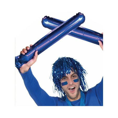 2 Cheerleader Team School Spirit Rally Blue Inflatable Colored Spirit Sticks - Cheerleader Supplies
