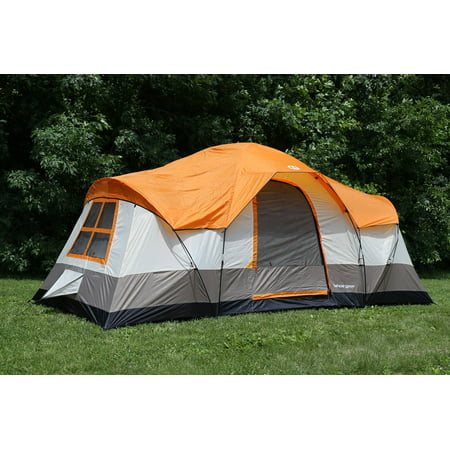 Tahoe Gear Olympia 10-Person 3-Season Tent, Orange/Ivory | TGT-OLYMPIA-10-B