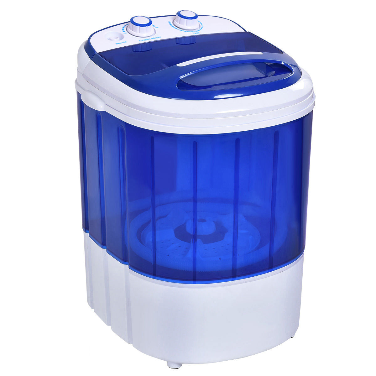 Costway Small Mini Portable Compact Washer Washing Machine 6.6lbs Capacity  Blue