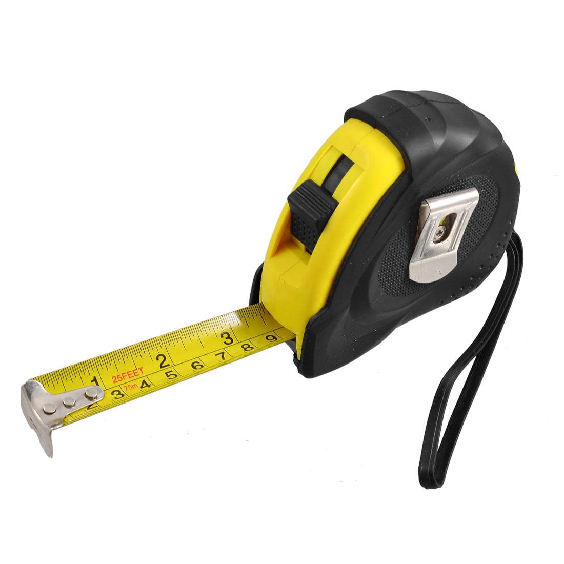 Unique Bargains Unique Bargains 25-Foot Retractable Inch/Metric Steel Tape Measure w Hand Strap