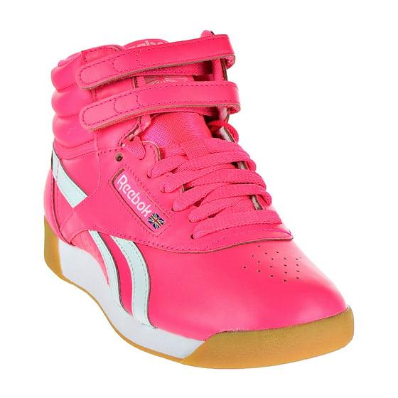 8fe52aec0bda5 Reebok - Reebok Freestyle HI SU Women s Shoes Acid Pink White cn7150 ...