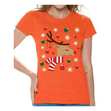 Awkward Styles Reindeer Christmas Lights Tshirt for Women Christmas Deer Ugly Shirt Funny Christmas Shirts for Women Xmas Gifts Holiday Tshirt Reindeer Ugly Christmas T Shirt Xmas Tshirt for Women](Funny Women)