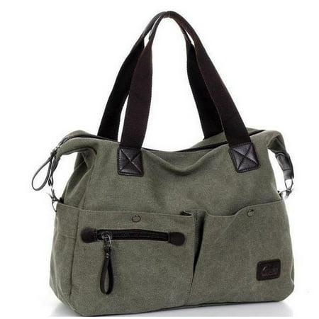 Canvas Zip Large Bag For Women Shoulder Bags Handbag