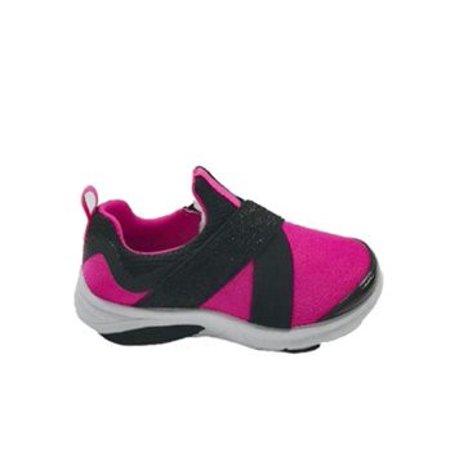 Athletic Works Slip-On Strap Running Shoe (Toddler Girls)
