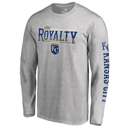 Kansas City Royals Pocket (Men's Heathered Gray Kansas City Royals Royalty Hometown Long Sleeve T-Shirt)
