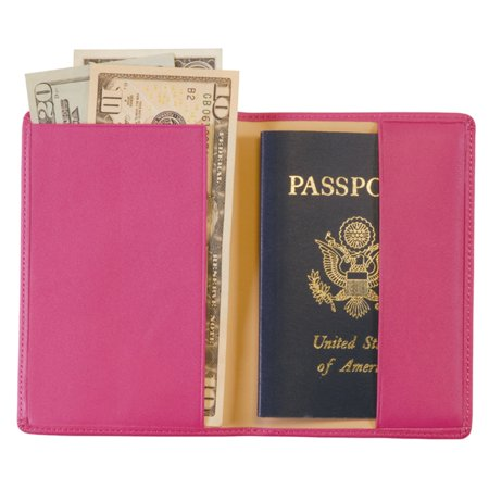 Royce Leather Genuine Leather Passport Holder and Travel Document Organizer