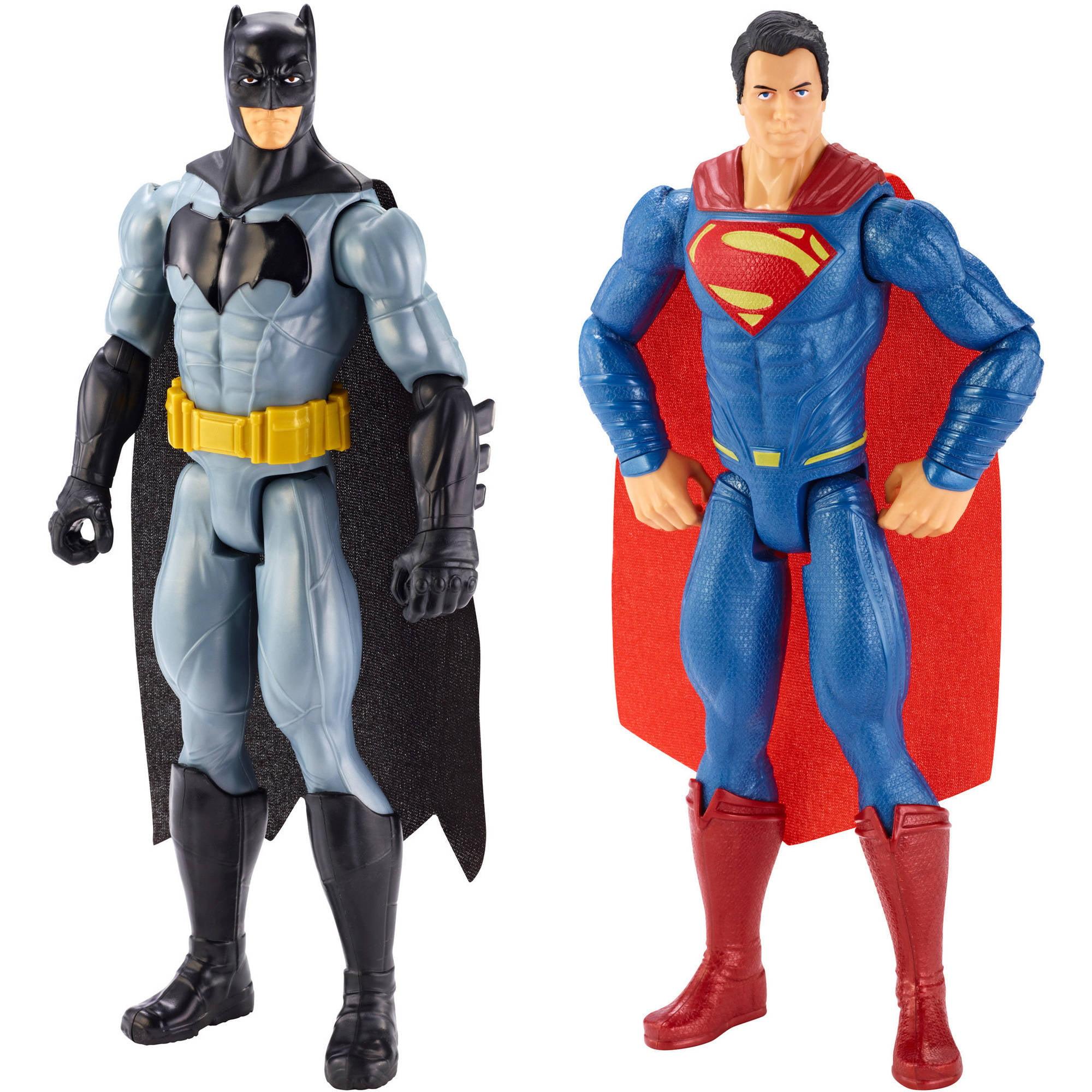 """Batman v Superman Dawn of Justice: Batman and Superman 12"""" Figure, 2-Pack"""