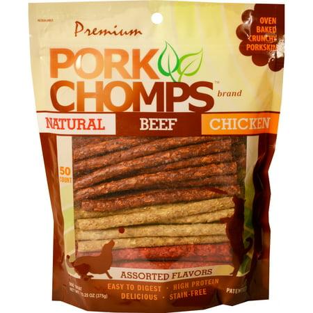 Pork Chomps Munchy Sticks, Assorted flavors, 50 ct