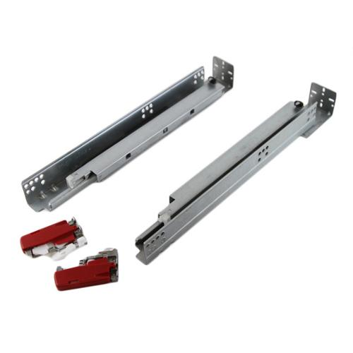 Contempo Living Inc Framed Hydraulic 21.37-inch Soft Close Concealed Undermount Full Extension Drawer Slides (Pack of 3 pairs)
