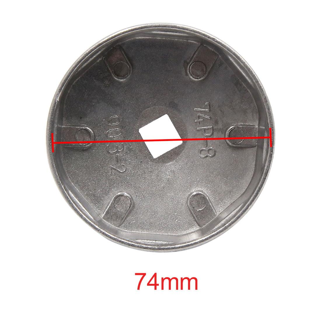 74mm Dia Int 8 Fl tes Métal Clé Filtre Huile Outil Suppression Creuse Voiture - image 1 de 2