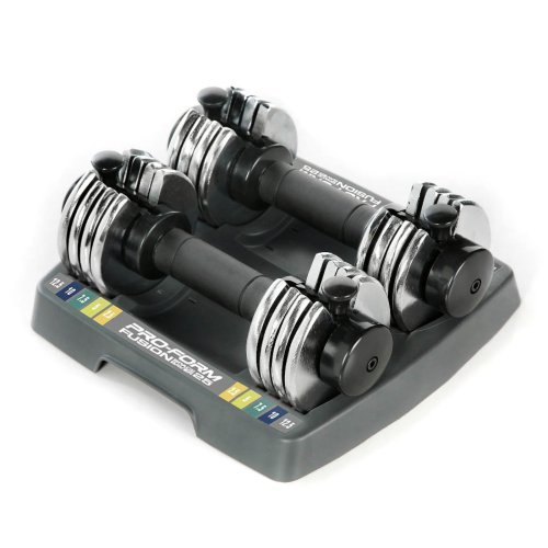 ProForm 25-lb. Adjustable Dumbbell Set
