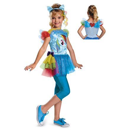 Girls My Little Pony Rainbow Dash Halloween Costume (Cute Big Brother Little Sister Halloween Costumes)