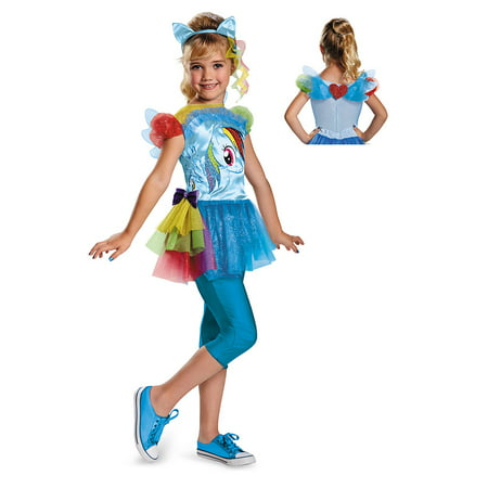 Girls My Little Pony Rainbow Dash Halloween Costume (Little Ghost Girl Halloween Costume)