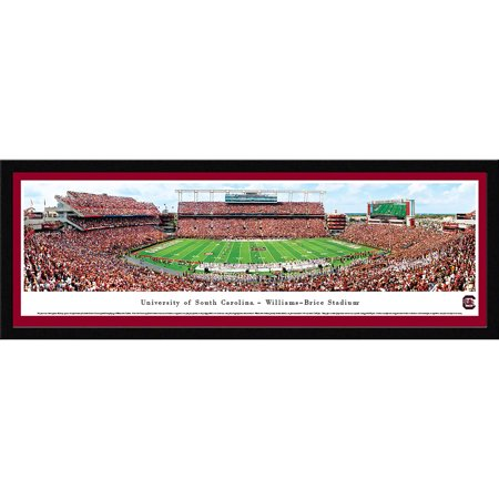 Framed Sports Memorabilia (South Carolina Football - 50 Yard Line - Blakeway Panoramas NCAA College Print with Select Frame and Single Mat)