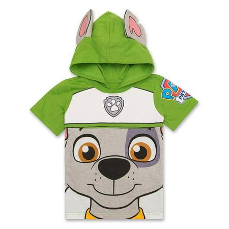 Nickelodeon Paw Patrol Hooded Shirt Chase Marshall Rocky Rubble Zuma Boys