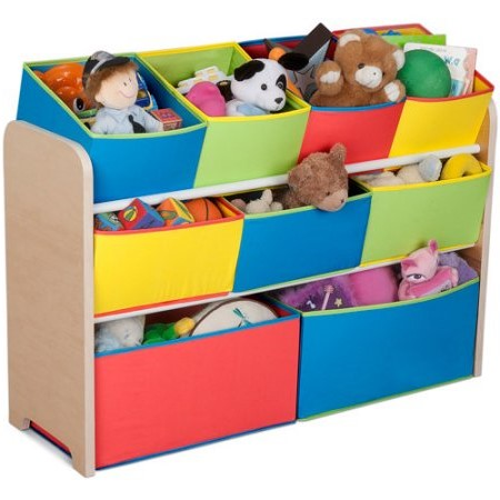 Delta Children Deluxe Multi Bin Toy Organizer With Storage Bins