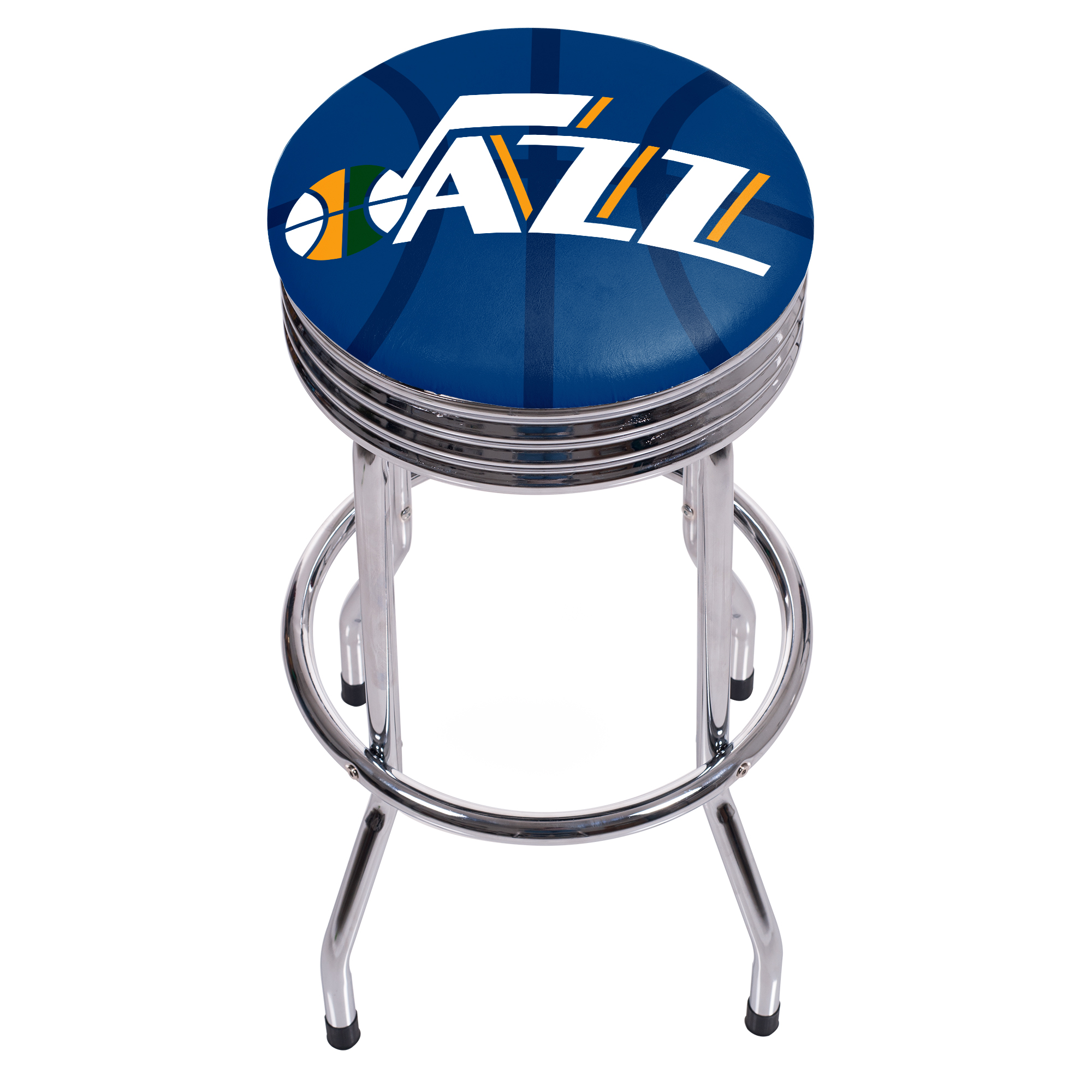 NBA Chrome Ribbed Bar Stool - Fade - Utah Jazz