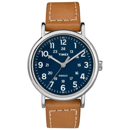 - Men's Weekender 40 Brown/Blue Watch, Leather Strap