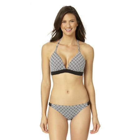 Banded Halter Swim (Cole Of California Women's Macrame Banded Halter Bikini Swim Top )