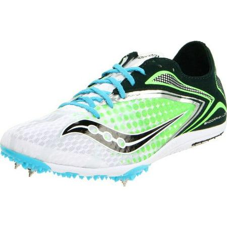 - Saucony Women's Endorphin Spike LD3 Track Shoe,White/Green,12 M US