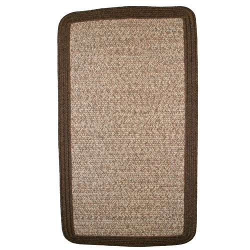 Thorndike Mills Town Crier Brown Heather with Brown Solids Indoor/Outdoor Rug