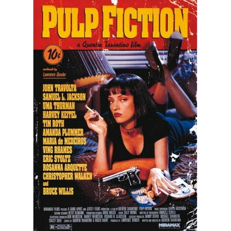 Pulp Fiction Uma Thurman Quentin Tarantino Comedy Crime Movie Travolta Jackson Giant Poster   39X55 Inch