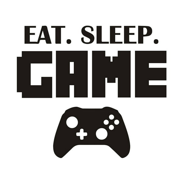Sleep Game Art Decals Boys Girls Gaming Gamer Bedroom Game Machine Sticker Wall Decor
