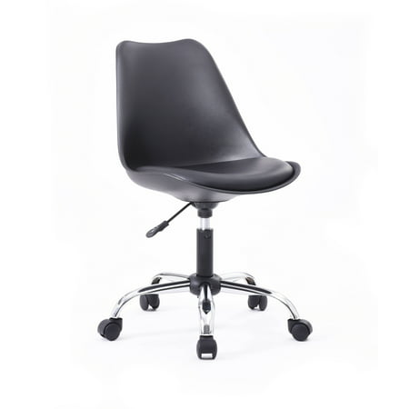 Hodedah Armless Office Chair With Seat Cushion Multiple Colors