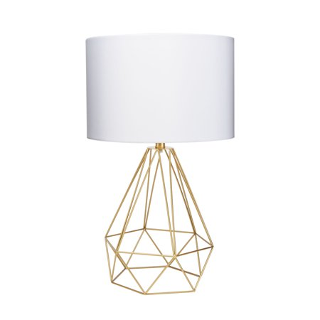 "Celeste 26"" Wire Prism Table Lamp, Gold"