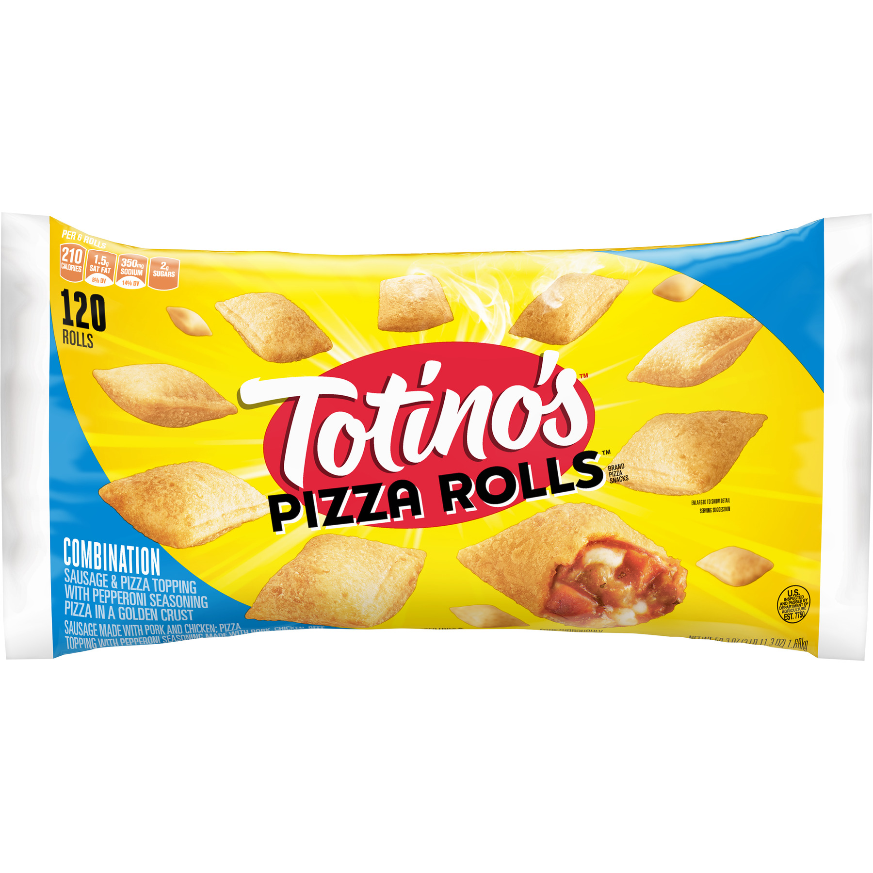 Totino's Combination Pizza Rolls, 59.3 oz