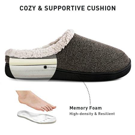 Men's Comfort Cozy Home Slippers Memory Foam Anti-Slip Breathable for Indoor/Outdoor