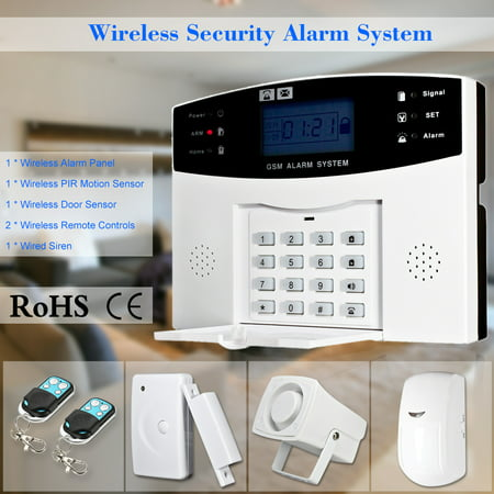 - Wireless GSM SMS Home Burglar Security Alarm System Detector Sensor Kit Phone App Remote Control 433MHz 1527