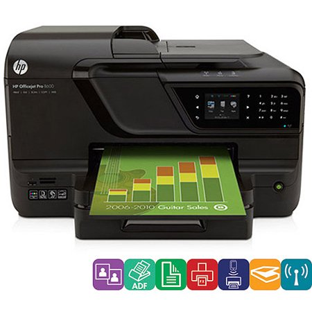 HP Officejet Pro 8600 E All In On Wireless Color Printer With Scanner
