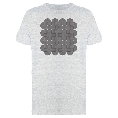 Multiple Twisted Lines Knots Tee Men's -Image by Shutterstock White Gold Mens Trinity Knots