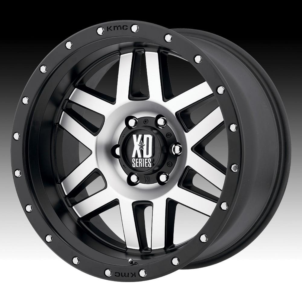 KMC XD XD128 Machete Machined Black 17x9 5x5 18mm (XD12879050518)