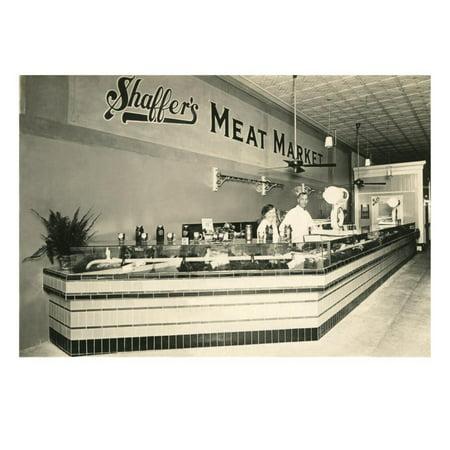 Shaffer's Meat Market Print Wall Art