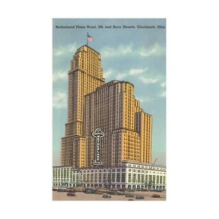 Netherland Plaza Hotel, Cincinnati Print Wall Art