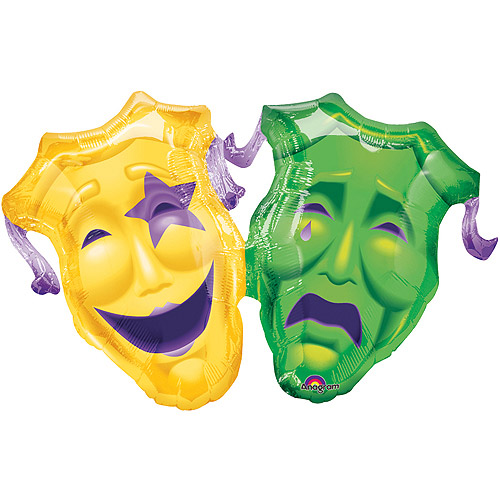 Comedy and Tragedy Mylar Balloon