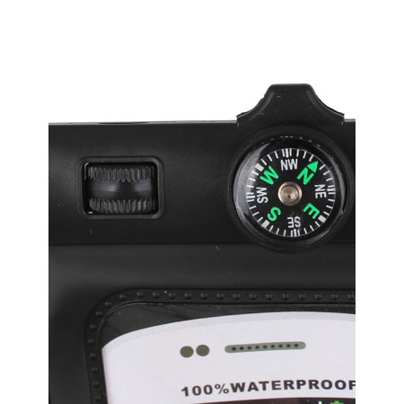 """Waterproof Bag Holder Pouch Black for 4.5"""" Mobile Phone w Neck Strap Compass - image 3 of 4"""