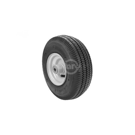 Wheel Assembly replaces Scag 48537.  410X350X5, Smooth Tread 4 Ply Tube Type Tire.  4