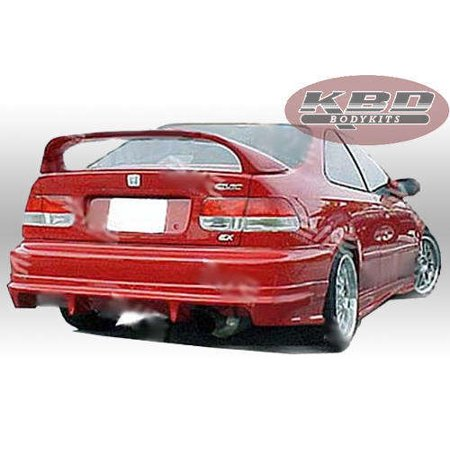 Honda Civic 2DR / 4DR 1996-2000 Fields Style 1 Piece Polyurethane Rear (Honda Polyurethane Civic Bumper)