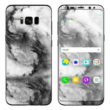 Skin Decal For Samsung Galaxy S8 / Black White Swirls Marble Granite (Galaxy Granite Marble)