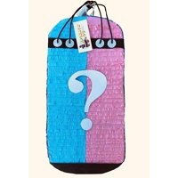 2-D Punching Bag Gender Reveal Pinata, Pink & Blue, 14in x 28in