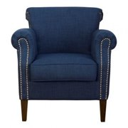 Jofran EMMA-CH-BLUE Emma Club Chair in Dum Dum Admiral Blue
